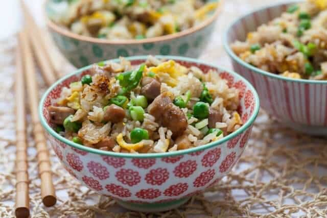 CHICKEN MUSHROOM ONION FRIED RICE